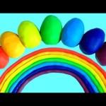 Play Doh Surprise Eggs Rainbow Colors Disney Princess Paw Patrol