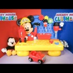 Unboxing the Mickey Mouse Handy Helper Workbench  Building toys
