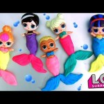 Play Doh LOL Surprise Dolls Mix Up Heads Mermaid Sparkles LOL Lil Outrageous Littles