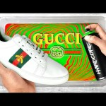 HYDRO Dipping GUCCI Ace Sneakers !! 👟🎨