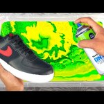 HYDRO Dipping NIKE AIR FORCE 1's !! 👟🎨