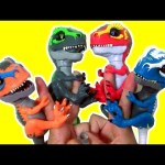T-Rex Fingerlings Untamed Dino T-Rexes by WowWee with Ripsaw Ironjaw Tracker Scratch