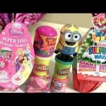 Giant Egg Surprise Disney Princess Anna Elsa Ariel with Disney Emoji Fashems & Play-Doh Surprise