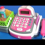 Honestly Cute Supermarket Cash Register Toy with Lights N' Sounds Educational Funtoys for Kids