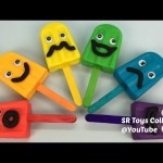 Play Doh Funny Face Ice Creams with Animals Molds