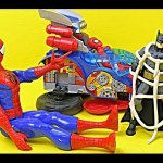 Spiderman Vs. Batman with Play-Doh Web and Car Kids Toys