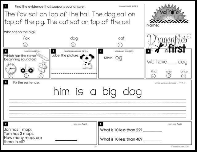 1st Grade Worksheets Pdf