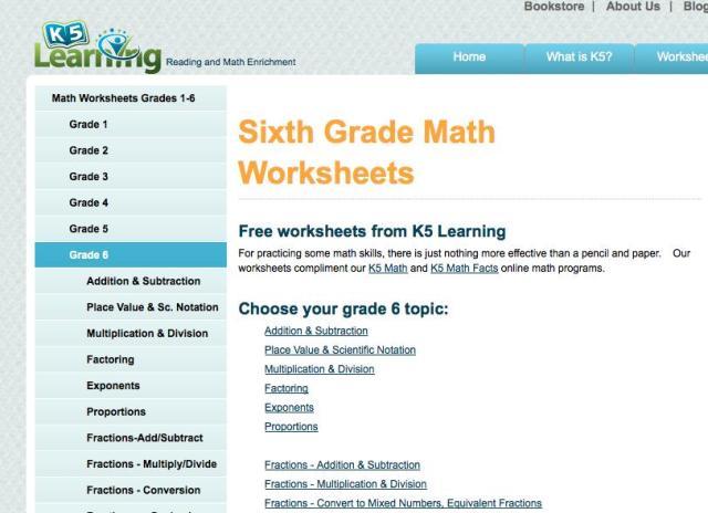 6th Grade Math Worksheets Multiplication