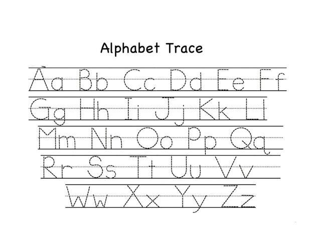 Alphabet Worksheets A-z Pdf