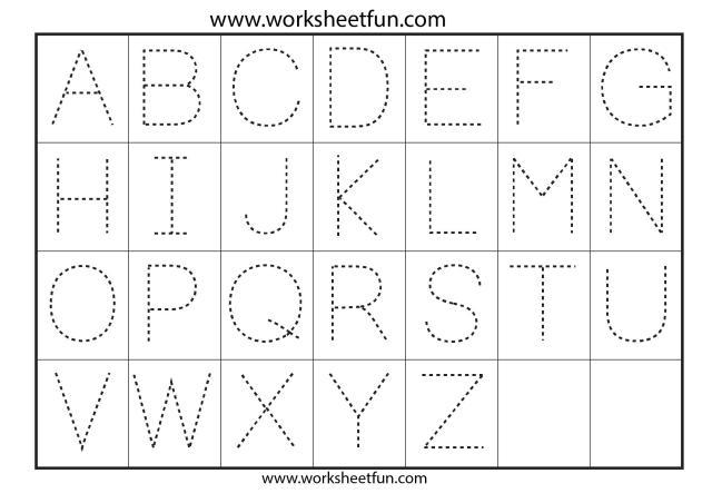 Alphabet Worksheets Free Printable