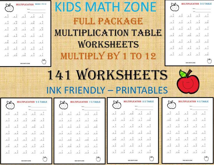 Multiplication Worksheets All Facts 3
