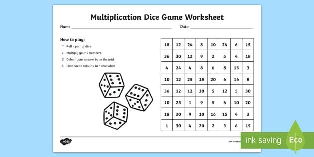 Multiplication Worksheets Australia 1