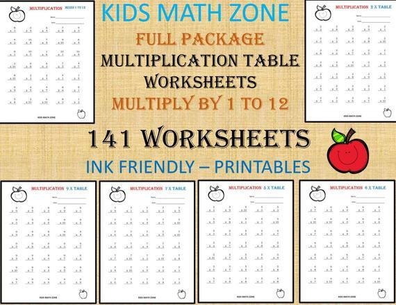 Multiplication Worksheets By 10s