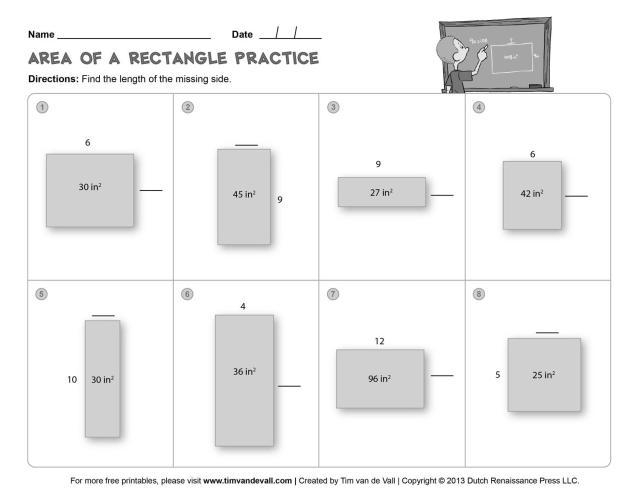 Perimeter Worksheets Grade 3