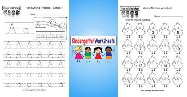 Worksheets For Kindergarten And First Grade