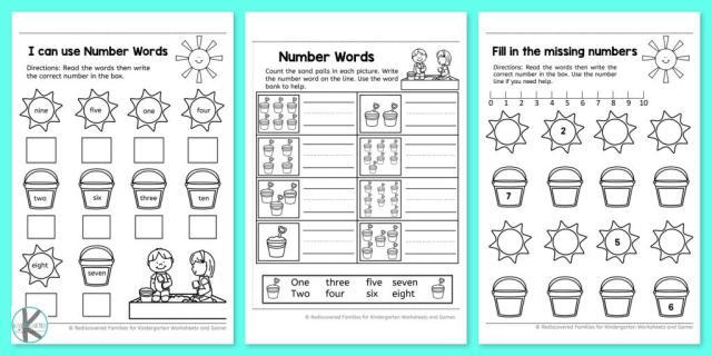 Worksheets For Kindergarten Free