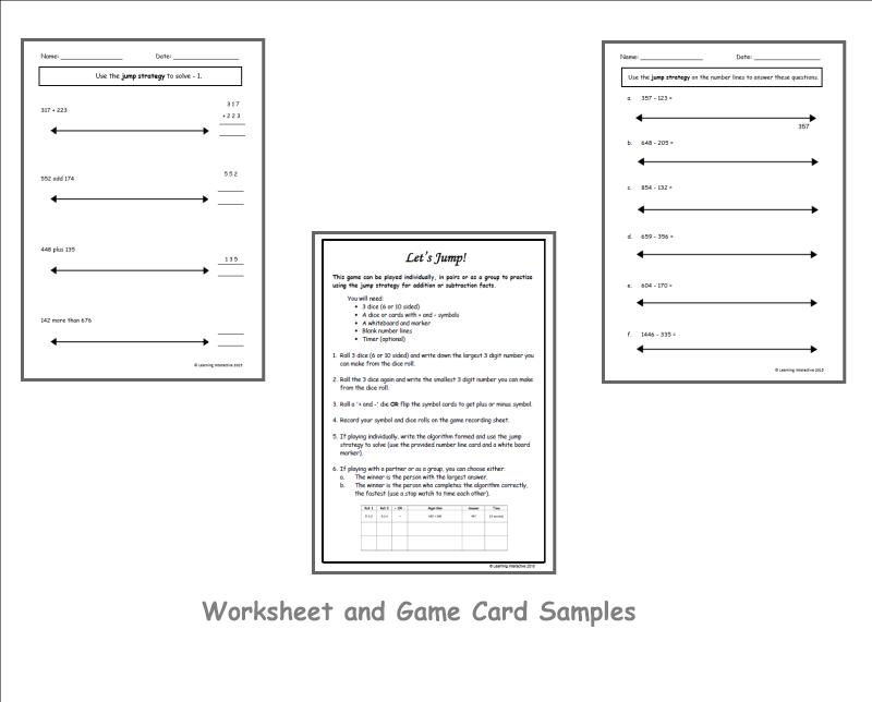 Jump Math Multiplication Worksheets 3
