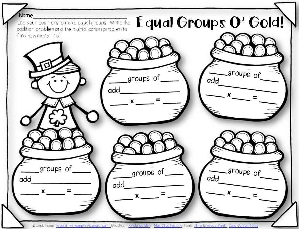Multiplication As Equal Groups Worksheets