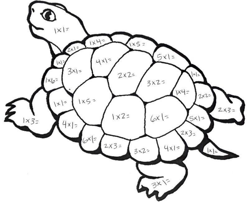 Multiplication Coloring Worksheets Grade 3