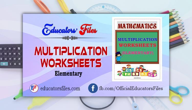 Multiplication Teaching Worksheets