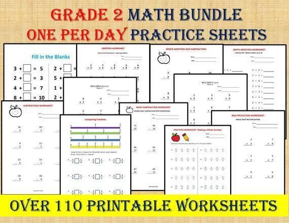 Multiplication Worksheets For Grade 2 Icse