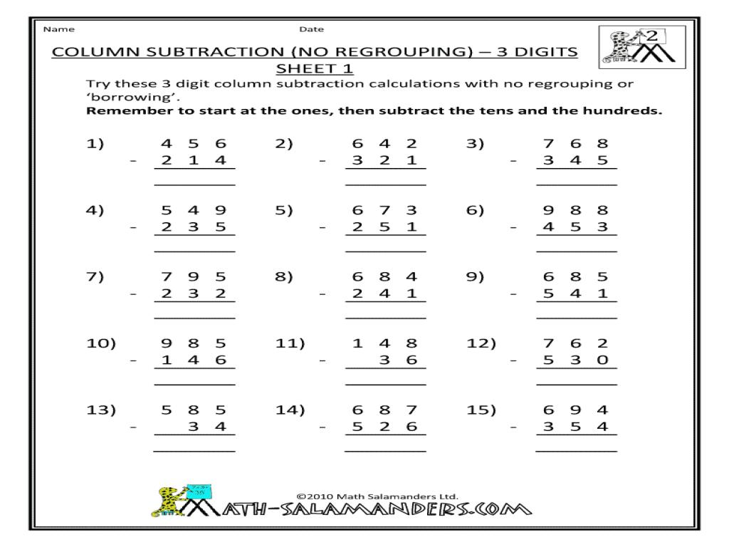 2 Digit By 2 Digit Multiplication No Regrouping Worksheets