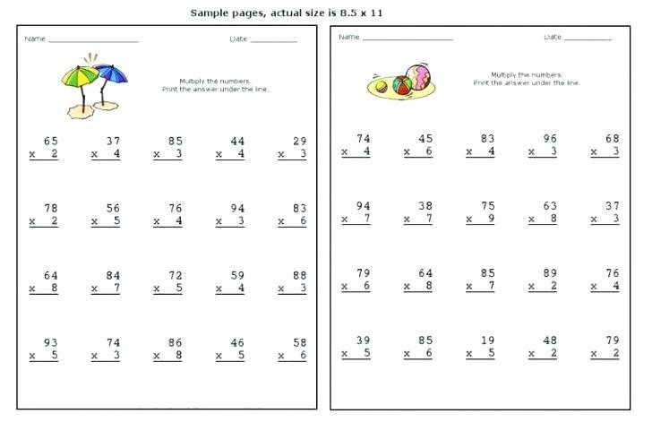Lattice Method Multiplication Worksheets Free
