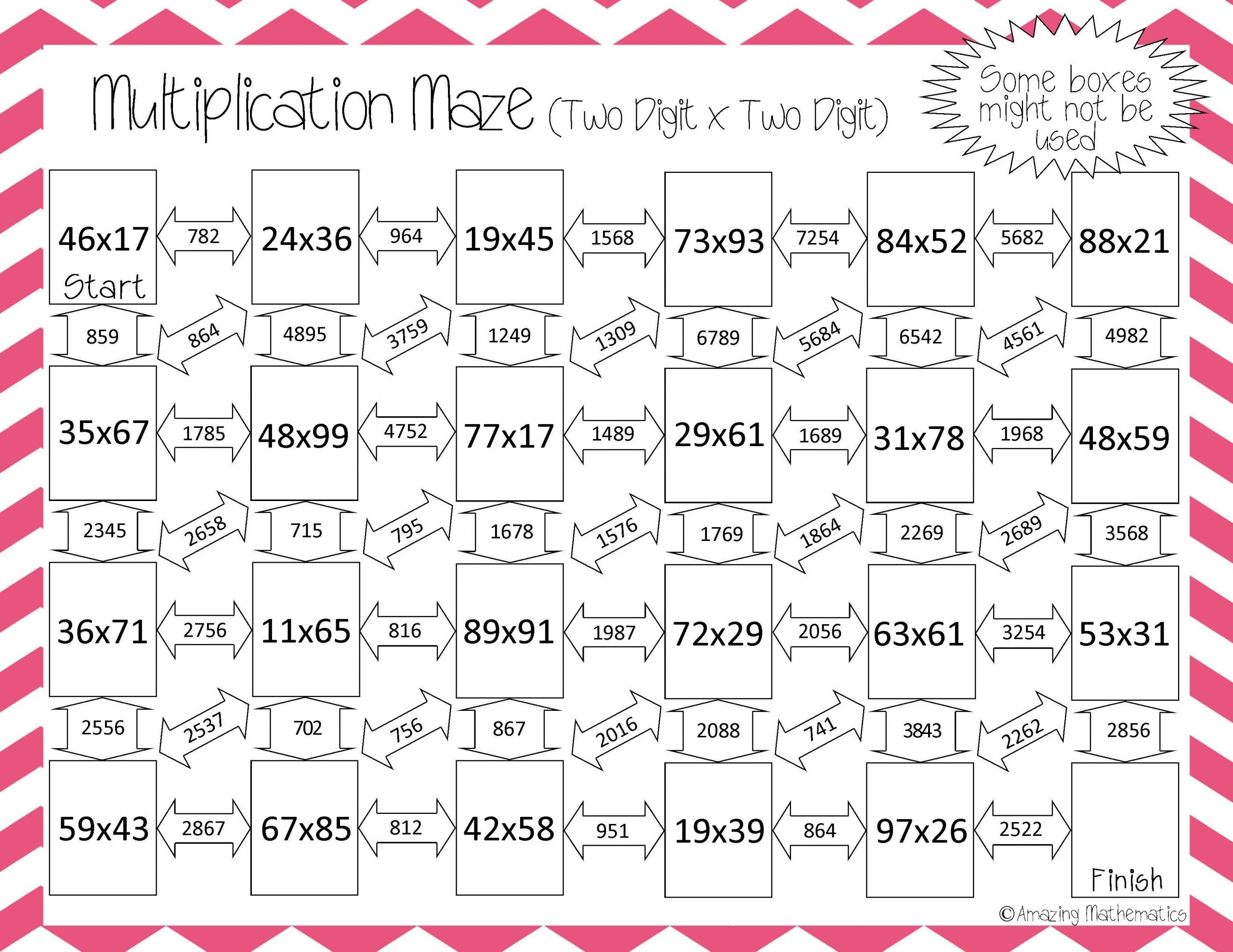 Multiplication Worksheets 2 Digits By 1