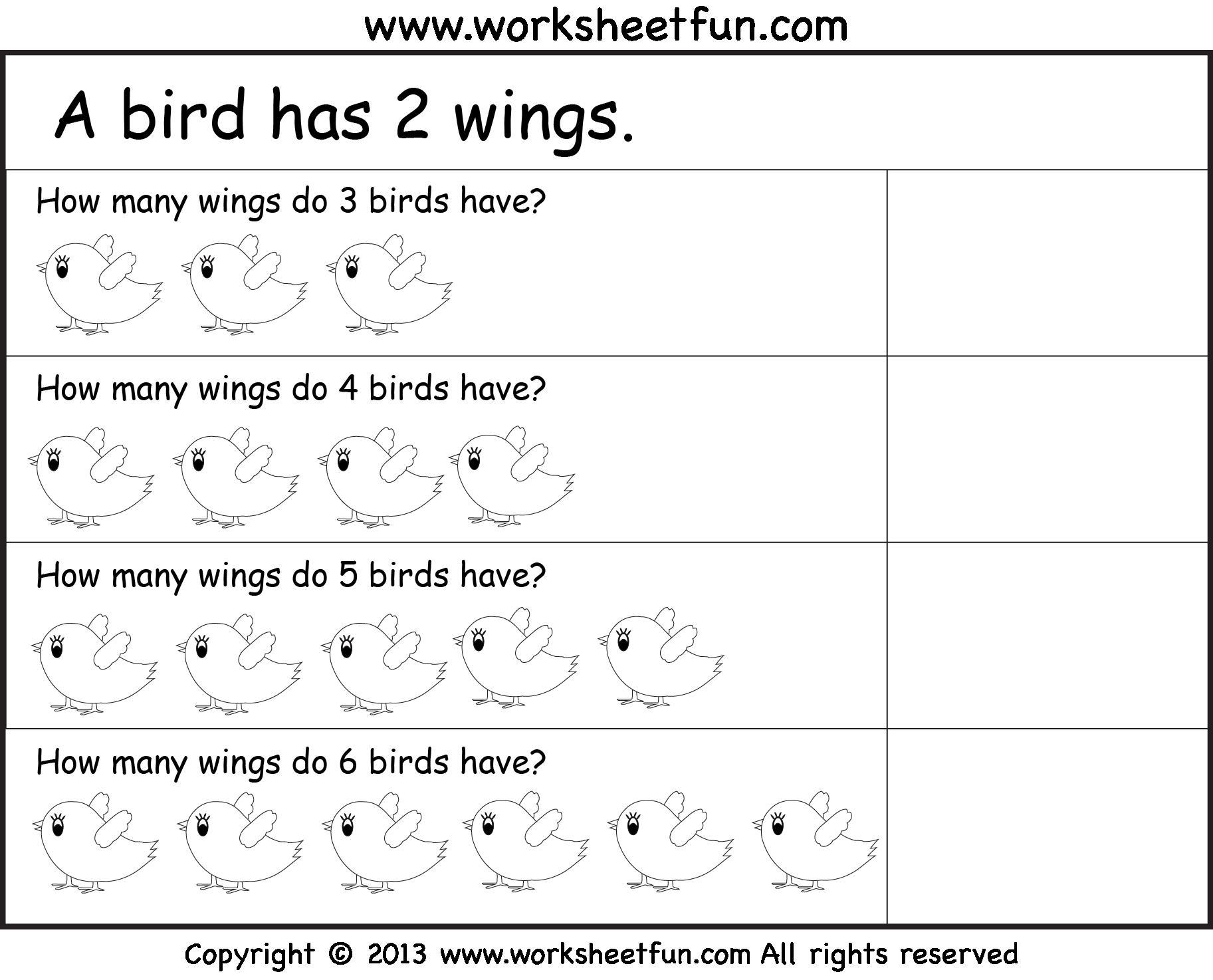 Multiplication Worksheets Level 1 1