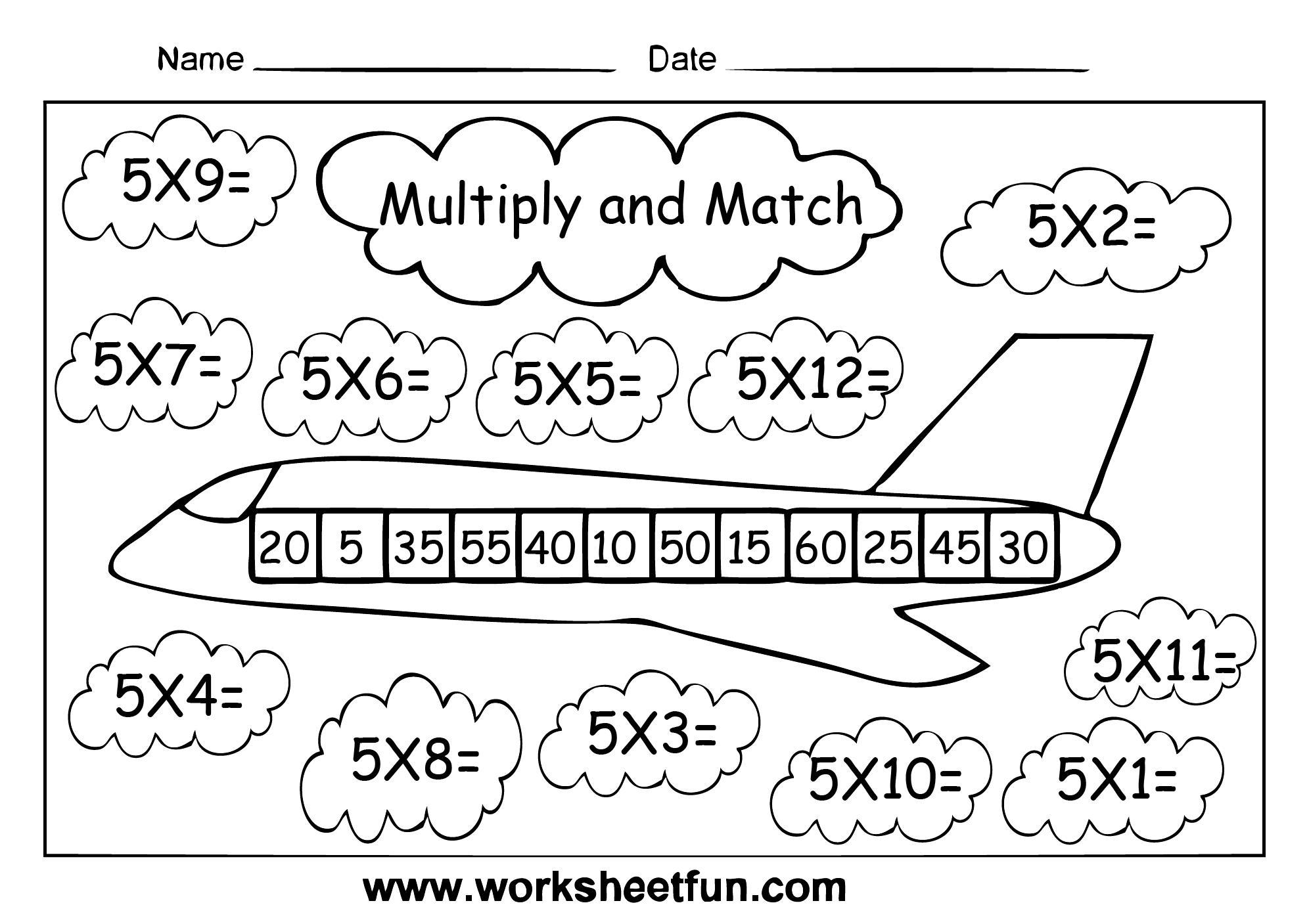 Multiplication Worksheets Level 5 4