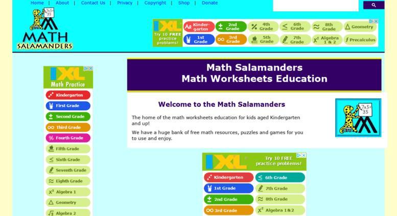 Multiplication Worksheets Math Salamanders 2