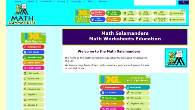 Multiplication Worksheets Math Salamanders 5