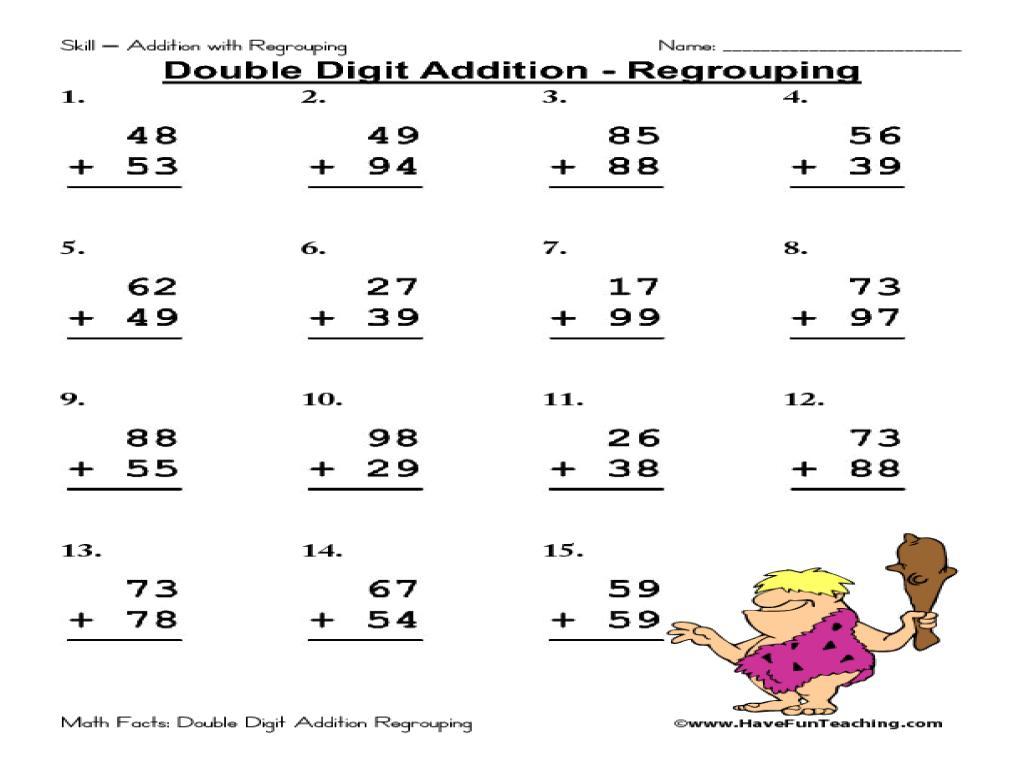 Multiplication Worksheets No Regrouping