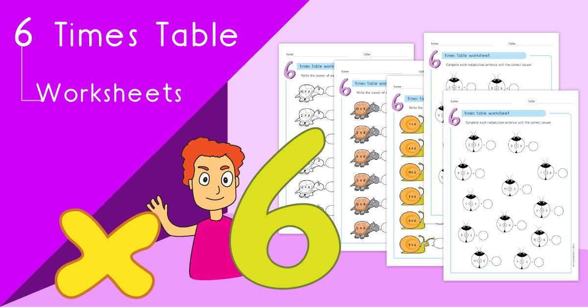 Multiplication Worksheets Of 6 1