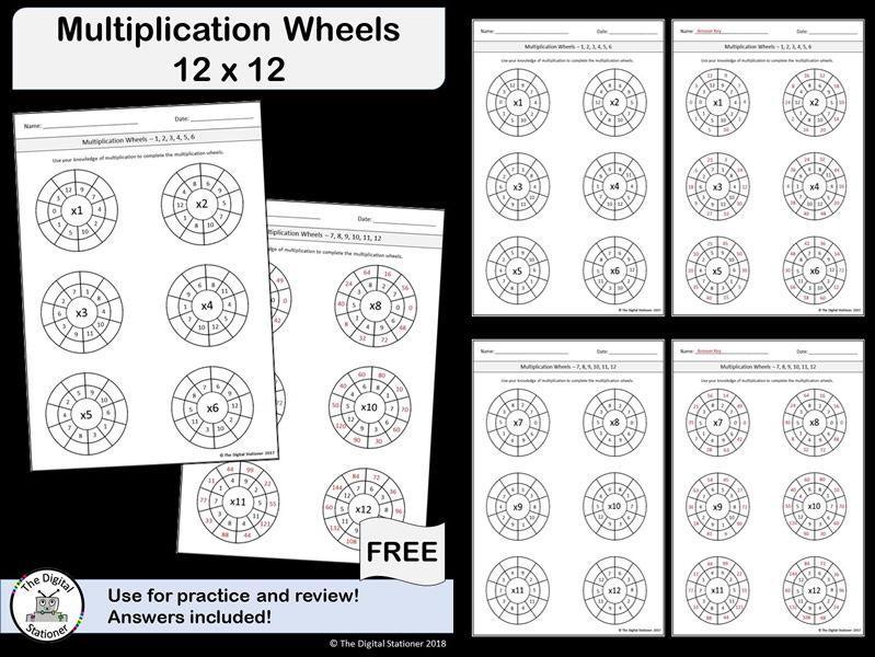 Multiplication Worksheets Up To 12×12 3