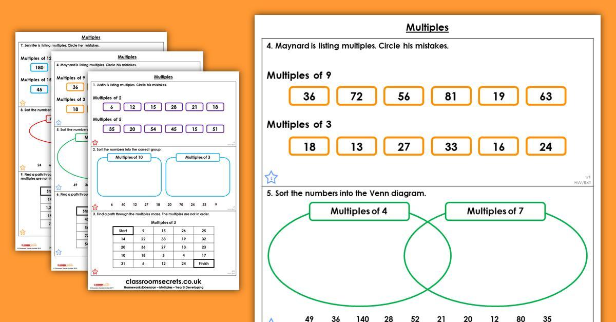 Multiplication Worksheets Up To 5×5 7