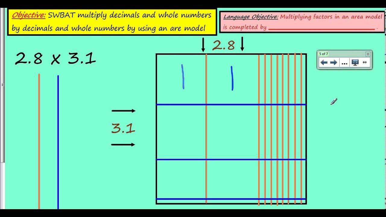 Multiplying Fractions Using Area Models Worksheet Pdf