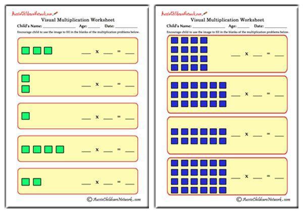 Multiplication Visual Worksheets 1