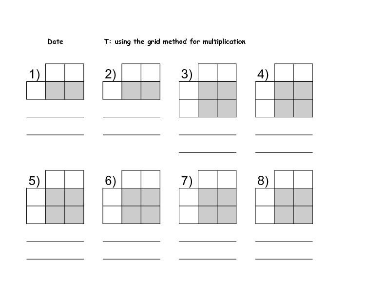 Multiplication Worksheets With Grids 1