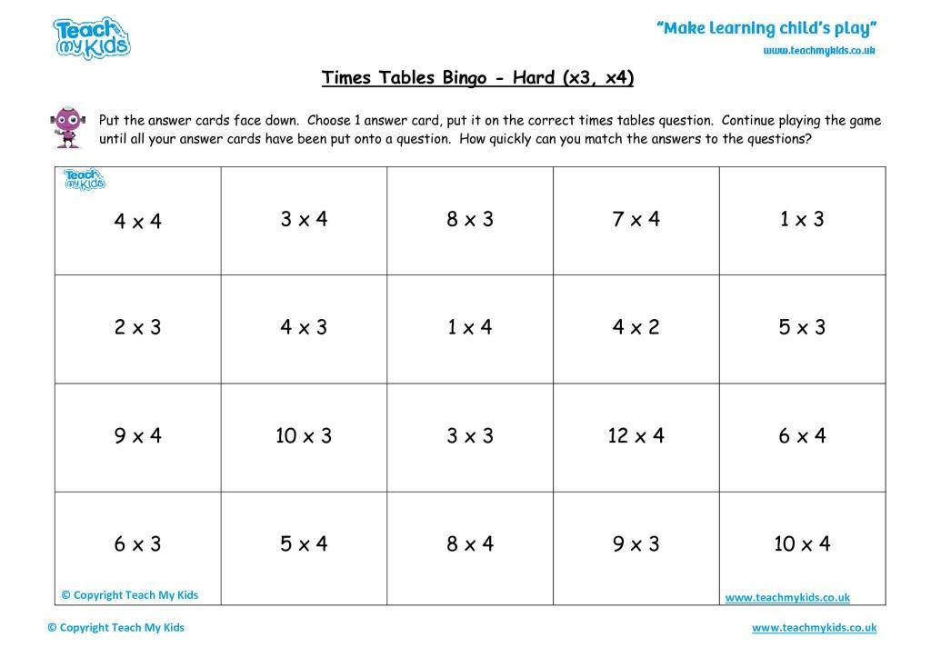 Multiplication Worksheets X4 7