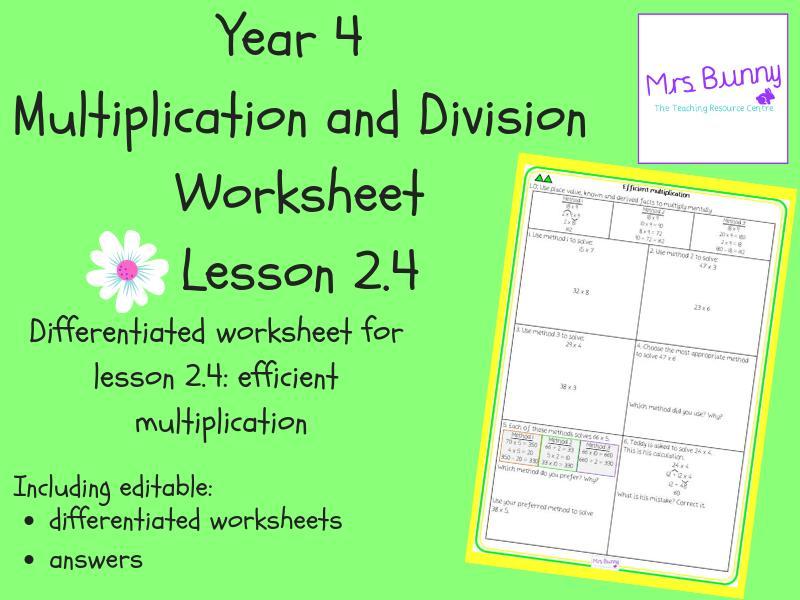 Multiplication Worksheets Year 4 Australia