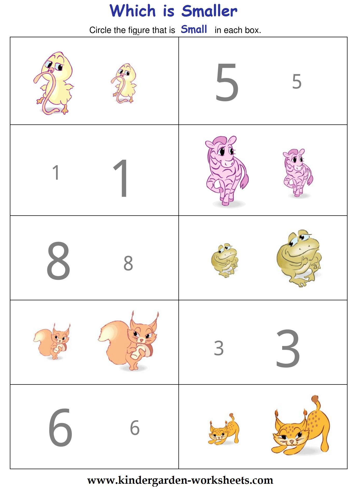 Preschool Worksheets Big And Small 2