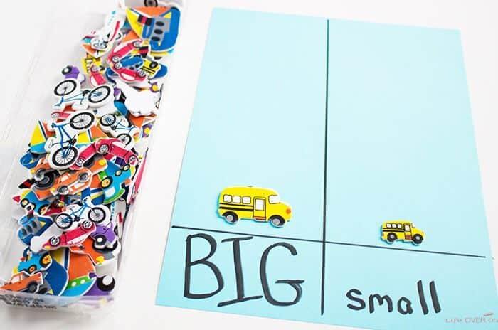 Preschool Worksheets Big And Small 3