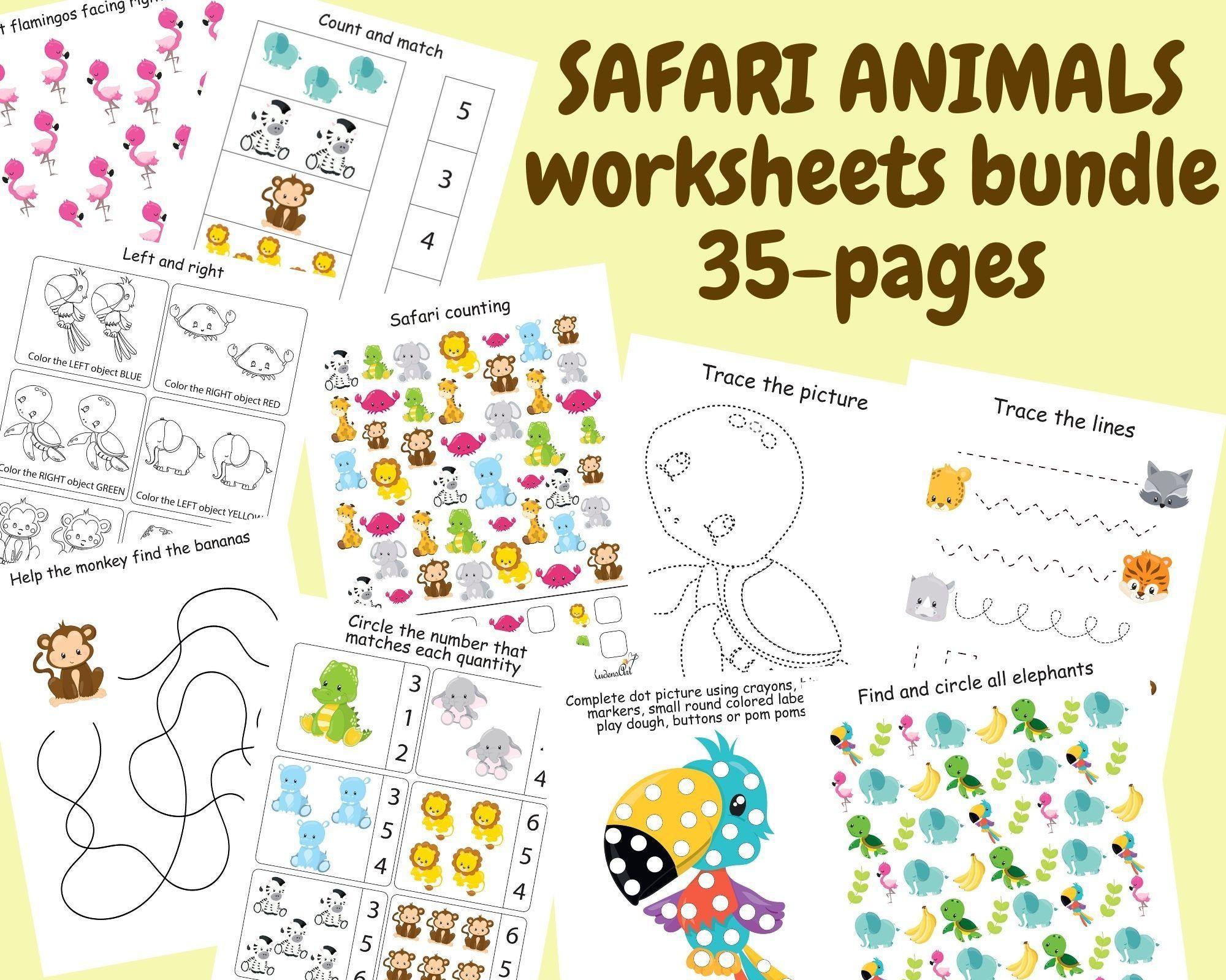 Preschool Worksheets Bundle 1