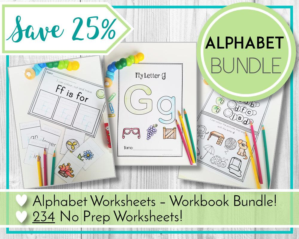 Preschool Worksheets Bundle 3