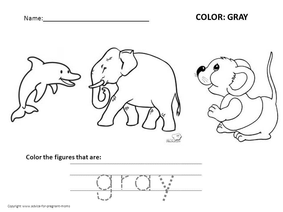 Preschool Worksheets Color By Number