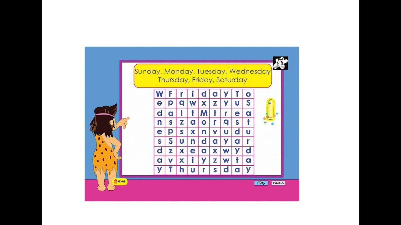 Days Of The Week Worksheets For Pre-k