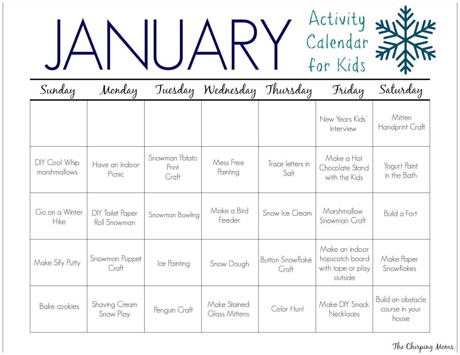January Preschool Worksheets 1