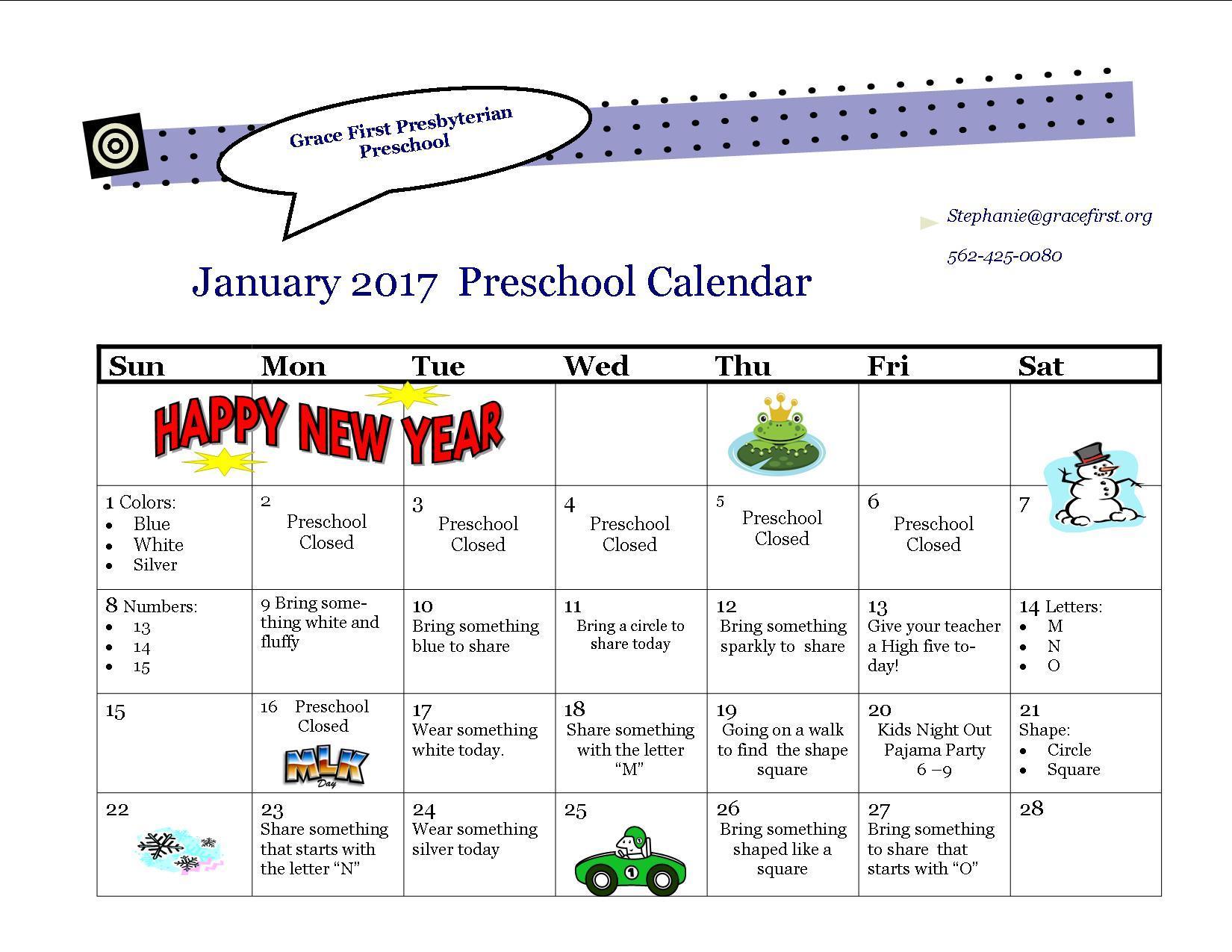January Preschool Worksheets 3