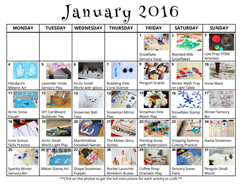January Preschool Worksheets 5